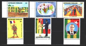Togo. 1983. 1629-34. Friendship with France. MNH.
