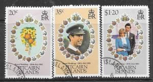 Pitcairn Islands #206-208 Royal Wedding 1981  (MNH) CV$1.35