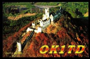 QSL QSO Radio Card Castle Bezdez,OK1TD,Jiri Lunak, Czech Republic, (Q3355)