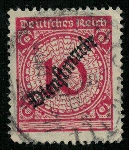 Reich, 1923, Rent Pfennig, Overprinted Dienstmarke, MC #101 (T-8176)