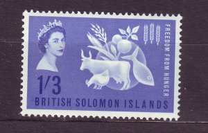 J23738 JLstamps 1963 solomos islands set of 1 mh #109 freedom from hunger