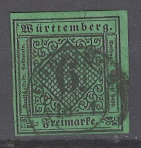 COLLECTION LOT # 2033 WURTTEMBERG  #4 1851 CV=$32.50