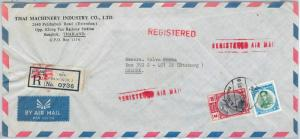 62934 - SIAM Thailand - POSTAL HISTORY: REGISTERED COVER to SWEDEN