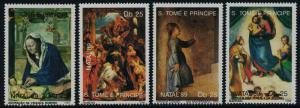 St Thomas & Principe 907-11 MNH Christmas, Art, Adoration of the King, Madonna