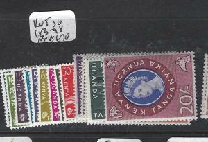 KENYA, UGANDA, TANGANYIKA   (PP0106B)  QEII  SET  SG 183-98   MNH