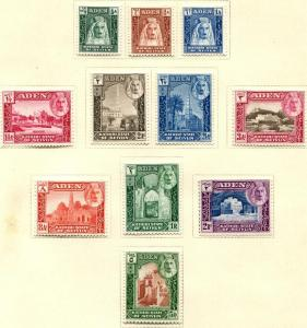 Aden - Kathiri SC# 1-11 Scenes & Views, set, Mint hinged