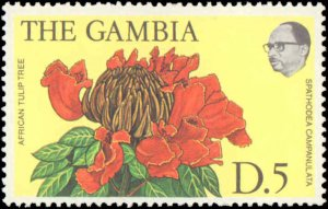 Gambia #354-366, Complete Set(13), 1977, Flowers, Never Hinged