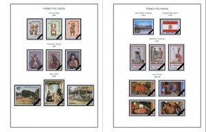 COLOR PRINTED FRENCH POLYNESIA 1892-2010 STAMP ALBUM PAGES (195 illustr. pages)