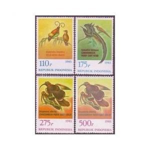 Indonesia 1210-1213,1213a,MNH.Michel 1120-1123,Bl.53. Canderawasih birds,1983.