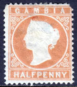 Gambia - Scott #5 - MH - CC Wmk. - Rounded corners at top - SCV $13.00