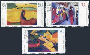 Germany 1750-1752,MNH.Mi 1617-1619. Paintings,1992.Franz Marc,Macke,Kandinsky.