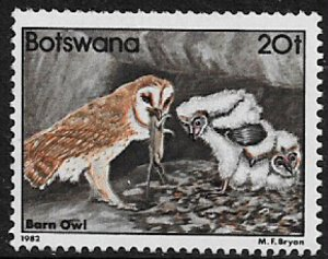 Botswana #313 MNH Stamp - Barn Owls - Birds