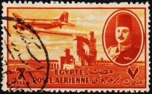 Egypt. 1947 7m S.G.325 Fine Used