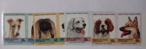 Bequia St. Vincent Grenadines 1985 Dogs, pairs, imperf., MNH S.145