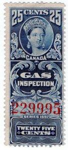 (I.B) Canada Revenue : Gas Inspection 25c