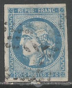 FRANCE 44 VFU TINY THIN Z7281