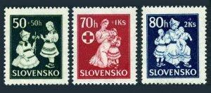 Slovakia B11-B12,MNH.Michel 112-114. National costumes,1943.Red Cross,welfare.
