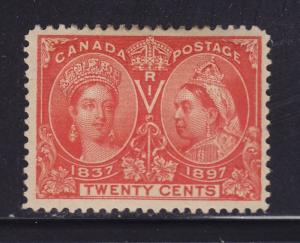 Canada Scott # 59 VF+ OG previously hinged nice color cv $ 275 ! see pic !