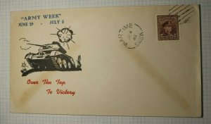 Canada Army Week 1942 WArtime SK Victory Tank Cachet Handstamp Cancel Cover