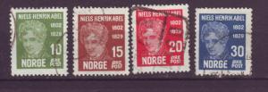 J18381 JLstamps 1929 norway set used #145-8 abel
