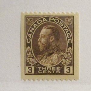 CANADA  Scott #134* , mint hinged, coil stamp, fine +