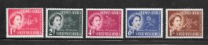 South West Africa #244-248 MH Set of 5