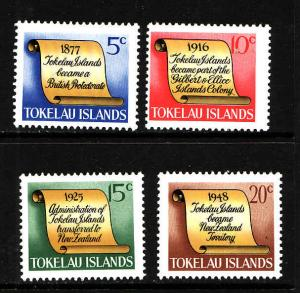Tokelau-Sc#16-19-Unused NH set-Tokelau History-1969-