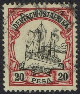 GERMAN EAST AFRICA 1901 YACHT 20P USED