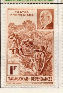 Madagascar 1938-45 Issue Fine Mint Hinged 1F. 141609