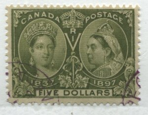 Canada 1897 $5 Jubilee exceptionally nice used