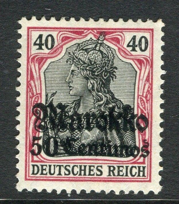 GERMAN COLONIES; MOROCCO 1911 early surcharged Mint hinged 50c. value