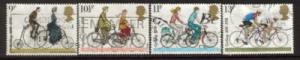 Great Britain Sc 843-6 1978 Bicycle stamps used