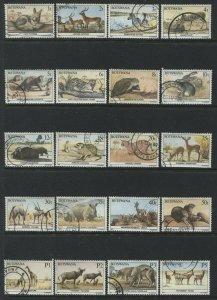 Botswana 1987 complete definitive set used