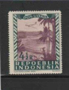 INDONESIA #C27 1949 4 1/2r AIRPLANE MINT VF NH O.G