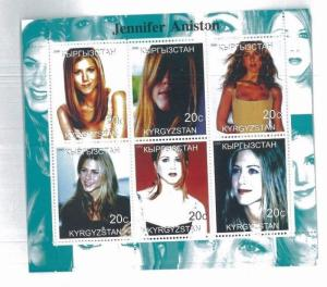 JENNIFER ANISTON 2000 Souvenir Sheet VF, MNH Kyrgyzstan - E46