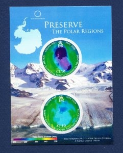 SOUTH GEORGIA - # 375 - MNH S/S  - Preserve the Polar Region - 2001