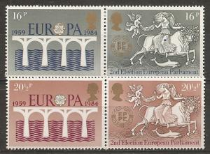 Great Britain 1054a-6a 1984 Europa pairs set NH