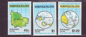 J23168 JLstamps 1991 norfolk island set mnh #501-3 maps