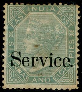 INDIA SGO30b, 6a 8p Slate PREPARED NOT ISSUED, M MINT. Cat £700.