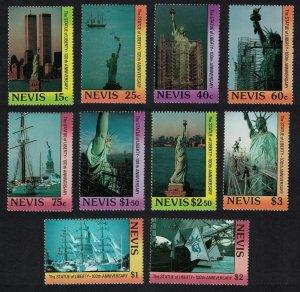 Nevis Statue of Liberty 10v 1986 MNH SG#443-452