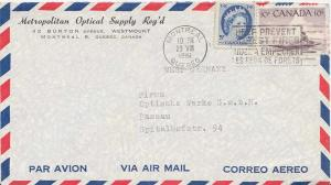 Canada 5c QEII Wilding and 10c Eskimo Hunter 1961 Montreal Quebec Airmail to ...