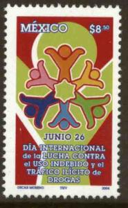MEXICO 2350, INTERNATIONAL DAY AGAINST ILLEGAL DRUGS. MINT, NH. VF.