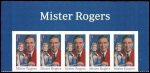 PCBstamps   US #5275 Header $2.50(5x{50c})Mister Rogers, 2018, (1)