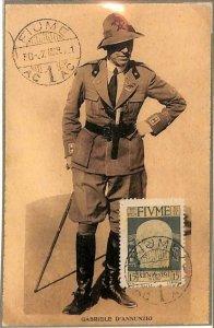 90055 - ITALY : Fiume - Postal History - MAXIMUM CARD 1921 Gabriele D'ANNUNZIO