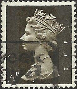 GREAT BRITAIN - MH6 - Used - SCV-0.25