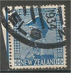 NEW ZEALAND 1926, used 2sh, George V Scott 182