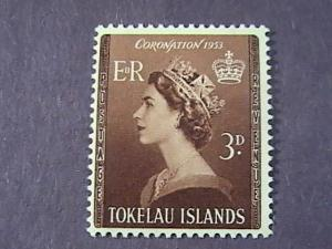 TOKELAU # 4 -MINT NEVER/HINGED----QEII----1953