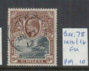 ST HELENA 1912 8D BLACK/ DULL PURPLE MINT SG78