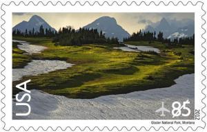 US C149 Airmail Glacier National Park 85c single (1 stamp) MNH 2012