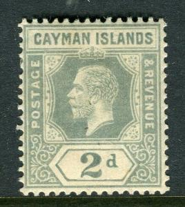 CAYMAN ISLANDS; 1912 early GV issue fine Mint hinged Shade of 2d. value
